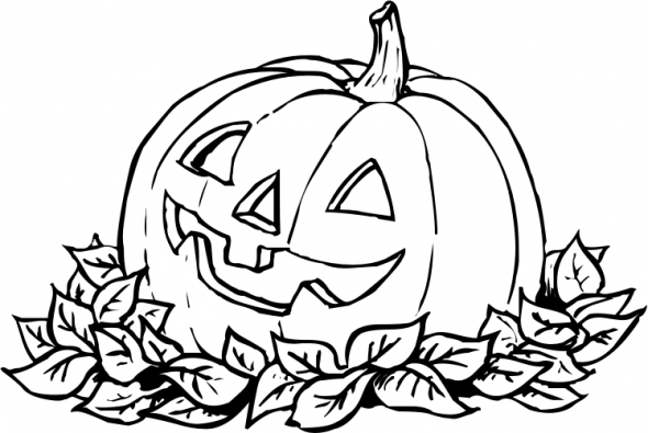 Pumpkin patch coloring page clipart panda free clipart for Coloring pages pumpkin free