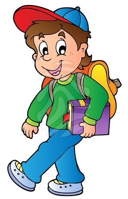 Clip art: Cartoon boy walking | Clipart Panda - Free ...