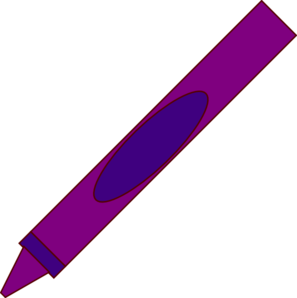 Purple crayon. Clipart panda free images