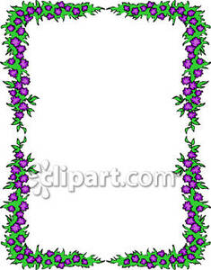 Purple Flower Border Clip Art | Clipart Panda - Free Clipart Images