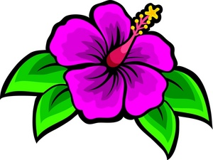Purple Hawaiian Flower...