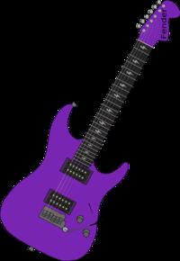Purple Guitar Clip Art