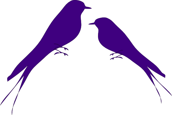 Purple Love Birds Clipart | Clipart Panda - Free Clipart Images