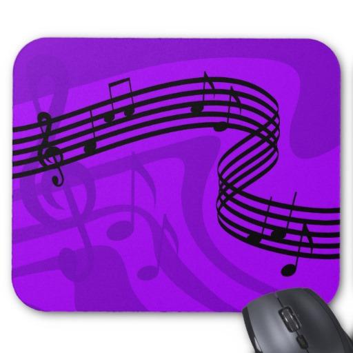 Purple Music Rhythm Mousepad | Clipart Panda - Free ...
