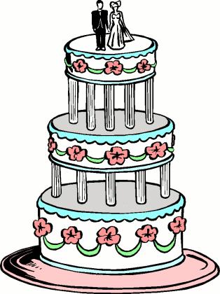Purple Wedding Cake Clip Art Clipart Panda Free