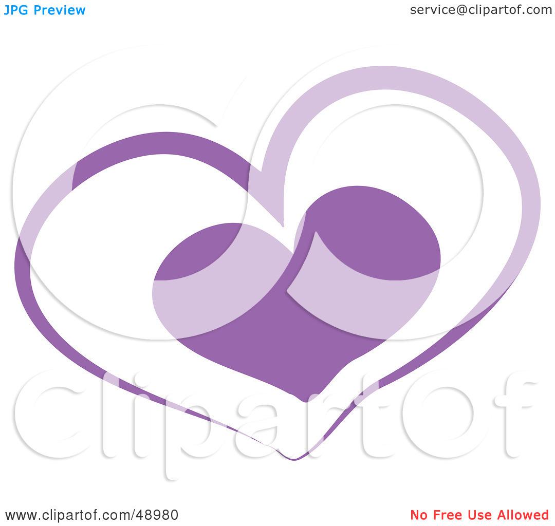 Purple Wedding Heart Clip Art