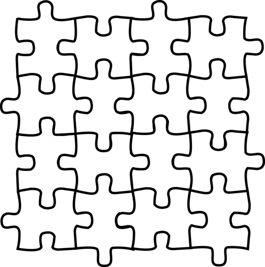 Puzzle pieces coloring page | Clipart Panda - Free Clipart Images