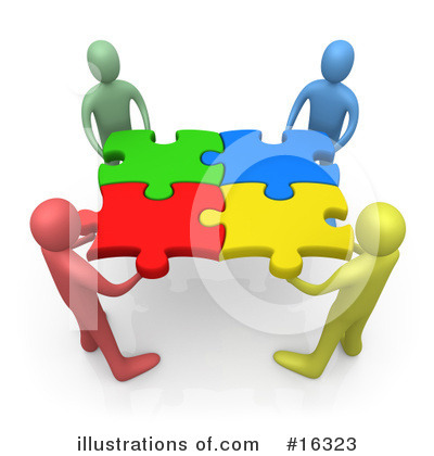 ... Clip Art Interlocking Teamwork | Clipart Panda - Free Clipart Images