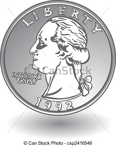 Quarter on white | Clipart Panda - Free Clipart Images