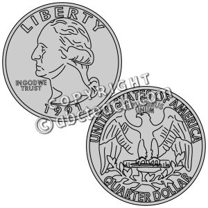 Quarter Clip Art Coin