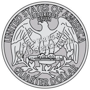 Quarter clip art