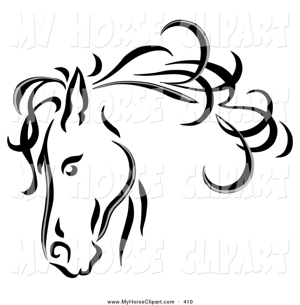 Line Drawing Horse Head : Quarter horse head clip art clipart panda free