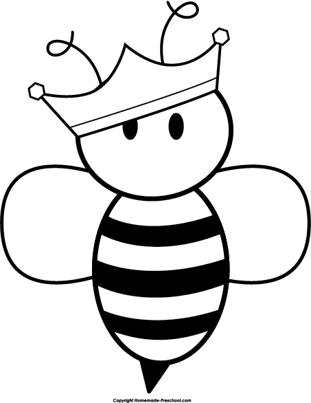 Queen Clipart Black And White queen-bee-clipa...