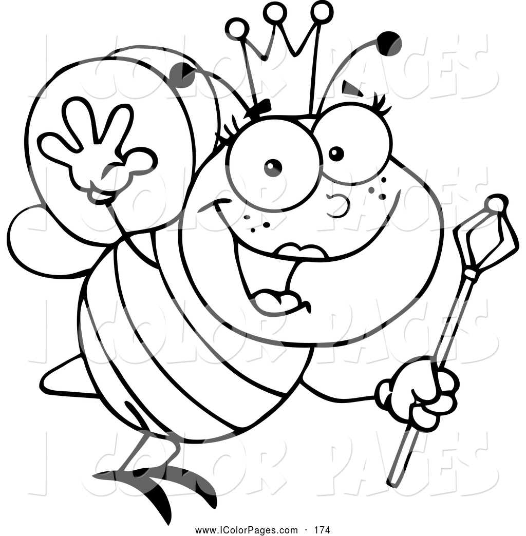 Queen Clipart Black And White Queen Bee Clipa...