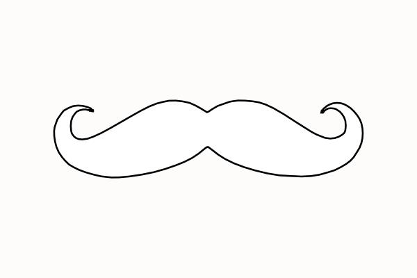 Mustache clip art - vector   Clipart Panda - Free Clipart Images