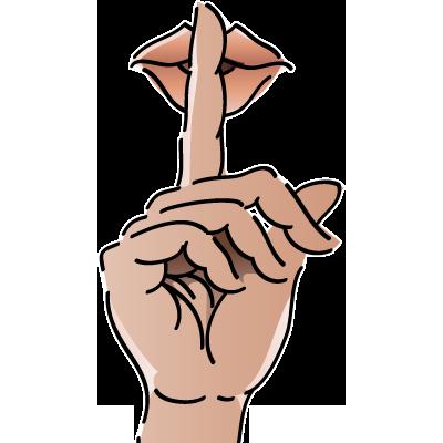 Quiet Person Clip Art Shh Sign Clip A...