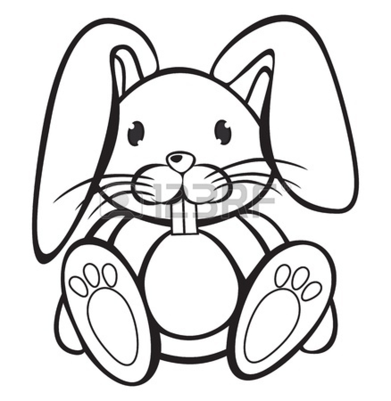 Bunny Face Line Drawing : Bunny clipart black and white panda free