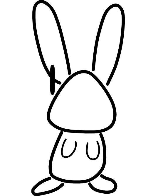 Bunny Clipart Black And White | Clipart Panda - Free Clipart Images