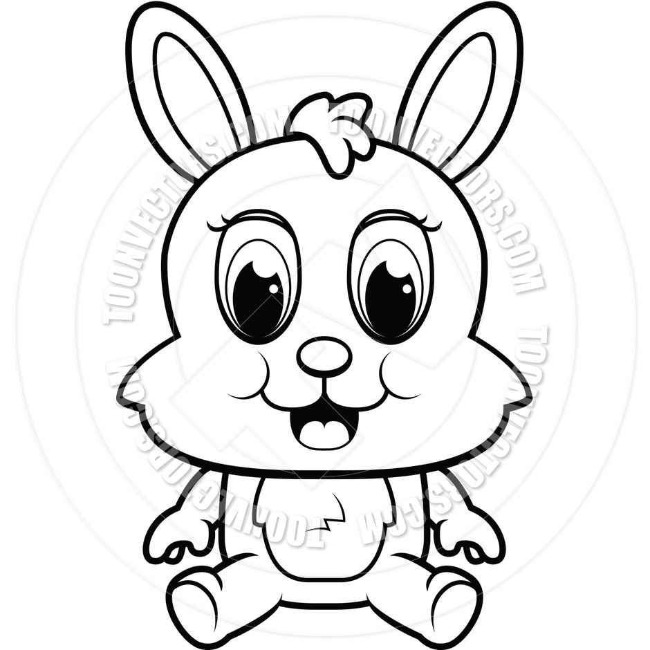 Rabbit Clipart Black And White | Clipart Panda - Free ...
