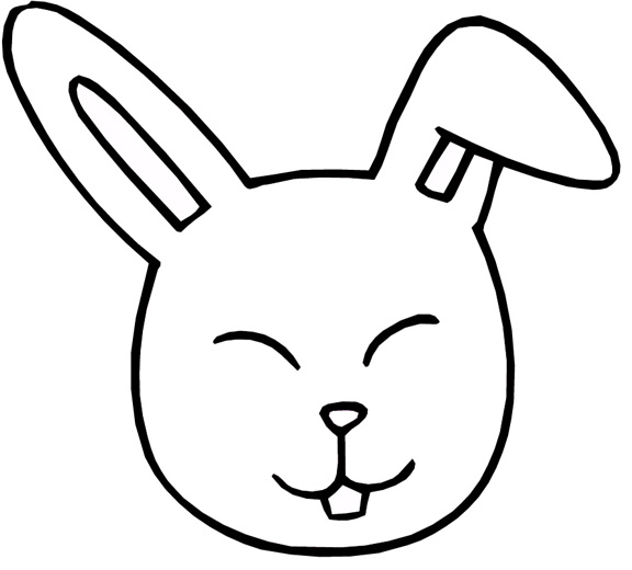 Rabbit Coloring Page Clipart