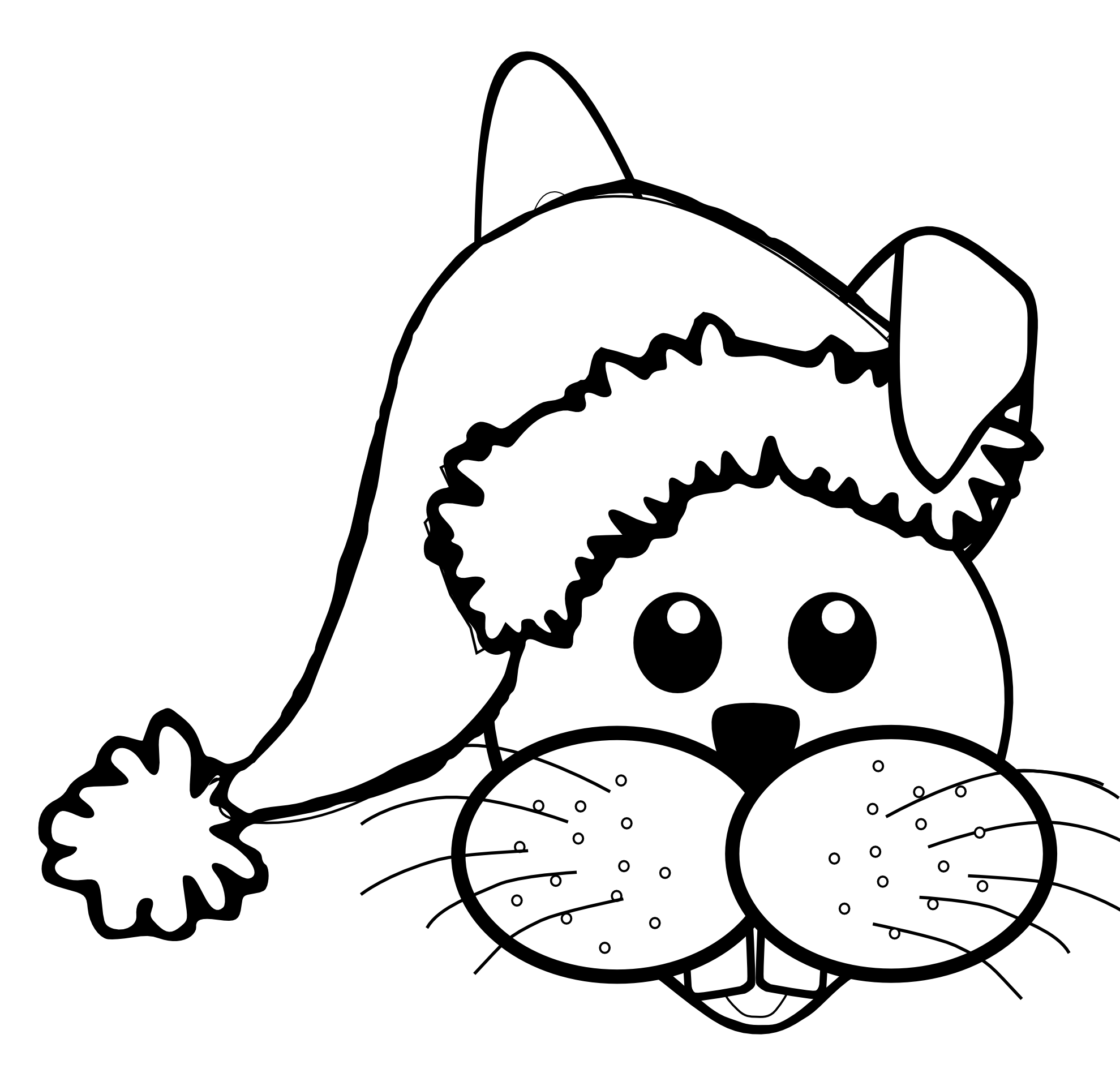Line Drawing Of Rabbit Face : Rabbit face clipart panda free images