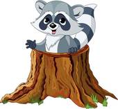 Image result for Cartoon Raccoon