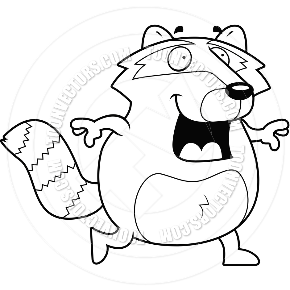 Raccoon Clipart Black And White | Clipart Panda - Free Clipart Images