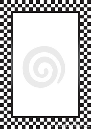 Checkered Race Car Border
