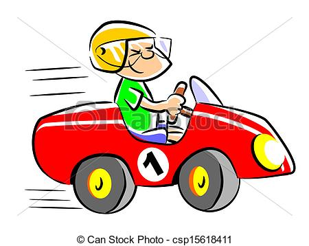 Cartoon About Flying Race Cars