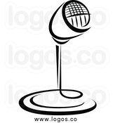 Radio Microphone Clip Art Vintage