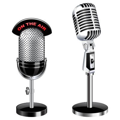 Fotos de micrófonos de radio Imágenes retro on the air al aire