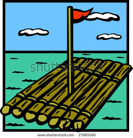 raft-clipart-stock-photo-raft-wood-ship-in ...
