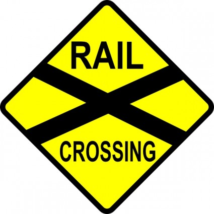 Caution Railroad Crossing Clip | Clipart Panda - Free Clipart Images