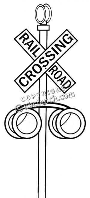 Free Coloring Pages Of Rail Road Crossing Sign Railroad Crossing Coloring Page