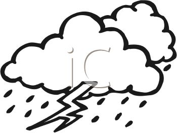 sad rain cloud clipart