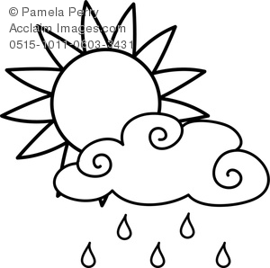 Rain Clouds Clipart Black And White