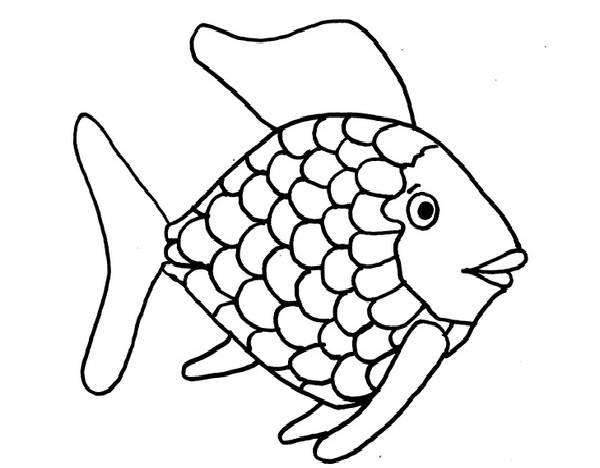 coloring pages of rainbow fish - photo#11