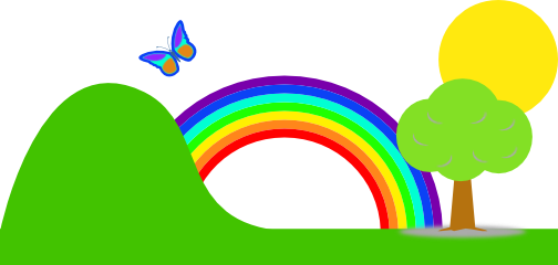 rainbow clip art clipart panda free clipart images rh clipartpanda com clipart of rainbow black and white clipart of rainbow black and white