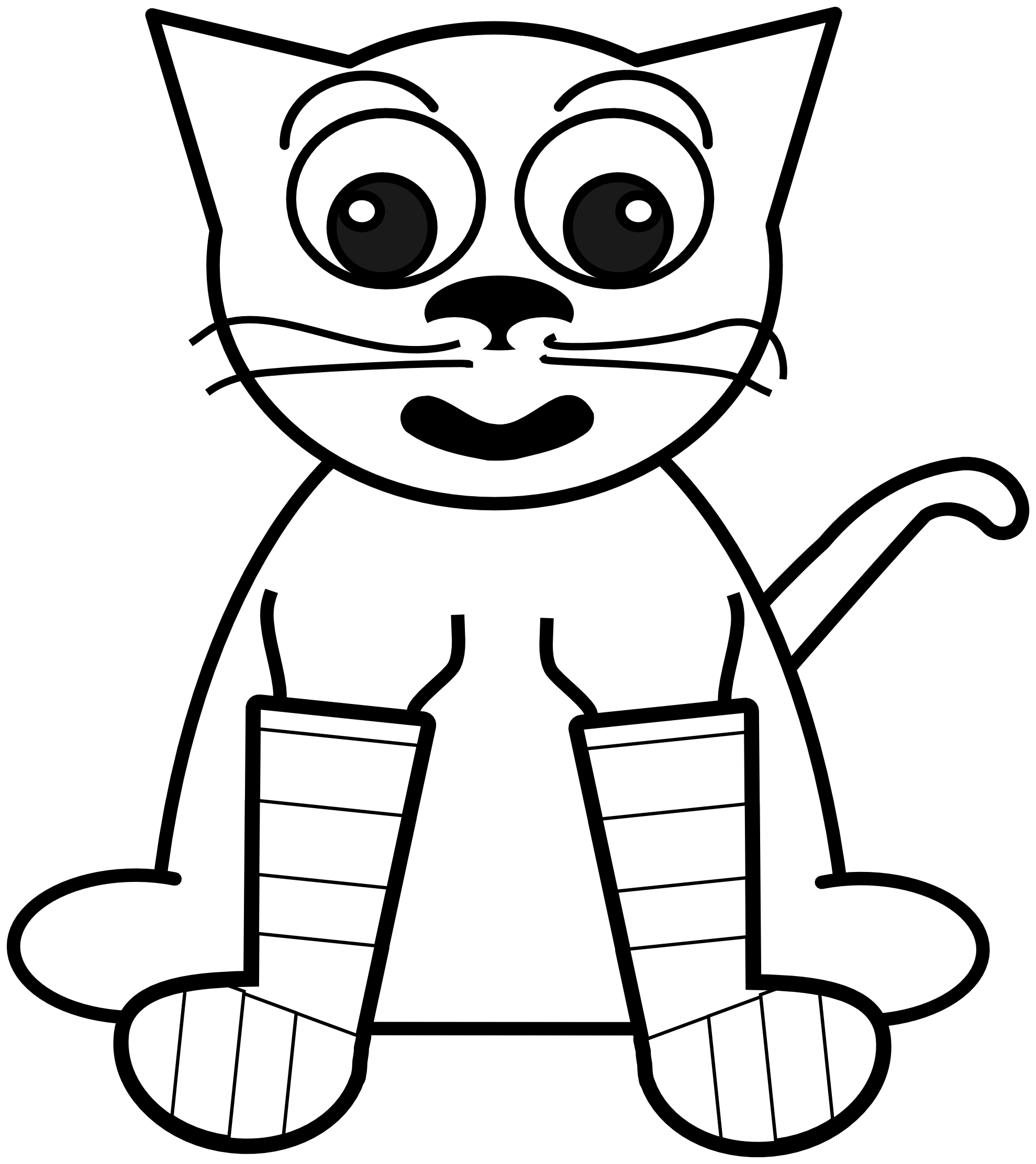 Rainbow clipart for kids black and white clipart panda for Black line coloring pages