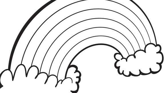 f rainbow coloring pages - photo#17
