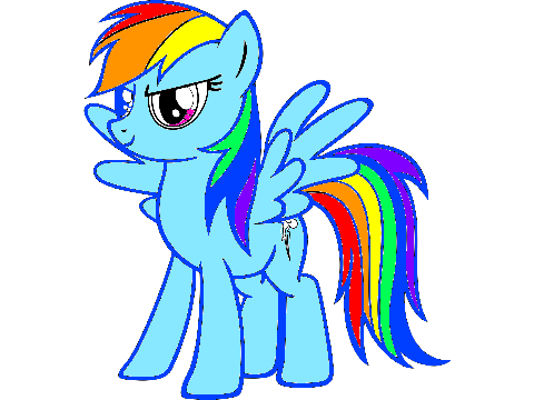clipart info - Rainbow Dash Coloring Page