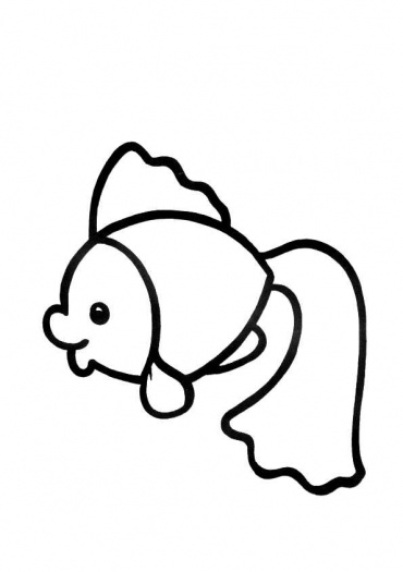 Rainbow Fish Coloring Page Clipart Panda Free