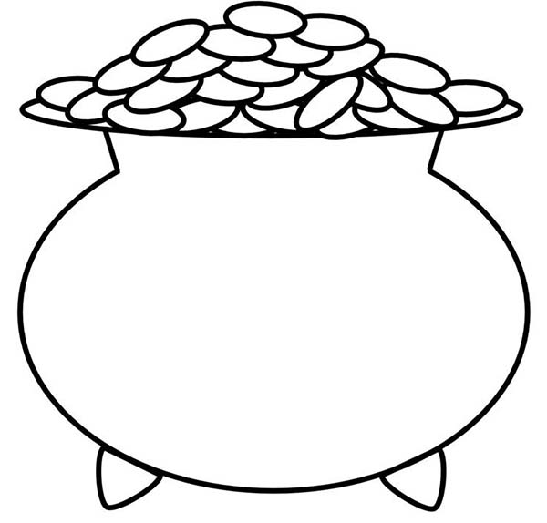 Free Pot Of Gold Coloring Pages Pot Of Gold Coloring Page