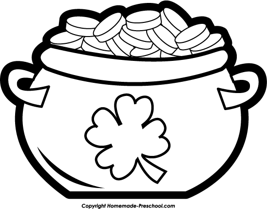 pot coloring pages - the gallery for empty pot of gold coloring