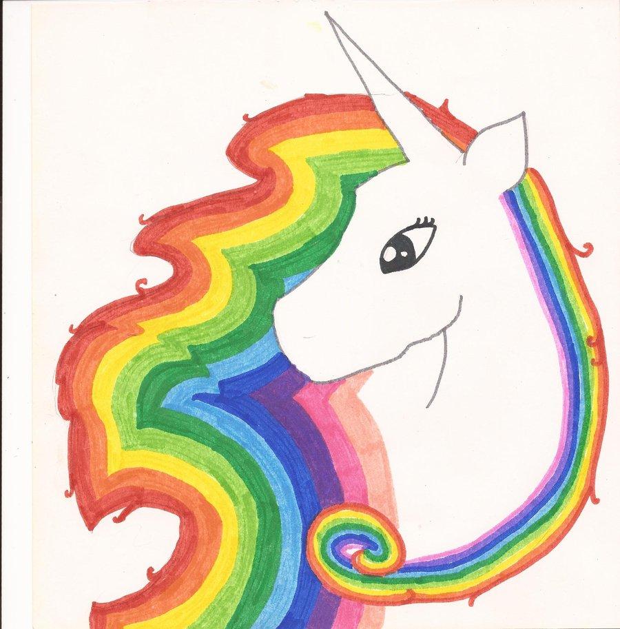 how to draw a rainbow unicorn