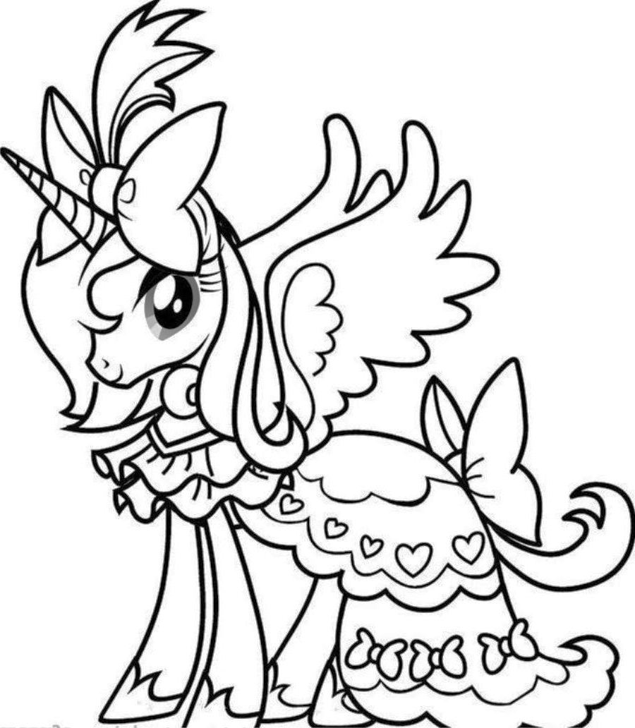 Unicorn Coloring Book : Barbie unicorn colouring pages