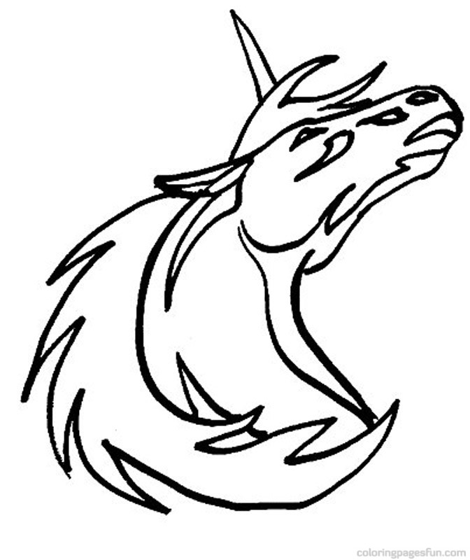 Unicorn Coloring Pages 7
