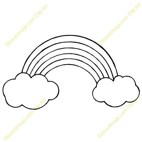 rainbows with clouds clipart rainbow with clouds clipart