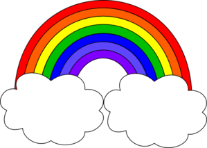 rainbow with clouds clip art clipart panda free clipart images rh clipartpanda com clipart of rainbow and sun clipart picture of rainbow