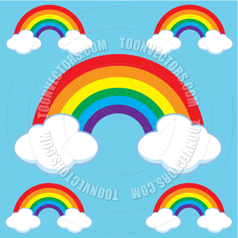 clipart rainbow with clouds - photo #38